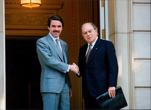 José María Aznar y Jordi Pujol (Ministerio de la Presidencia, Gobierno de España).